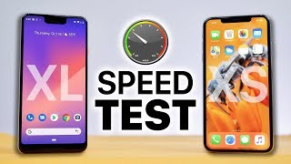 Pixel 3 XL vs iPhone XS Max SPEED Test!