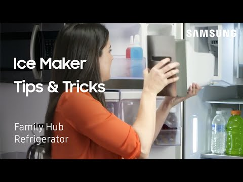 Ice Maker Tips and Tricks on your Samsung French Door with Polygon Handle