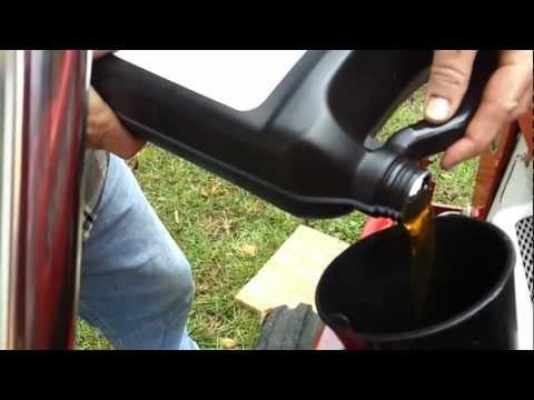 Yanmar tractor oil change part 2 - YouTube