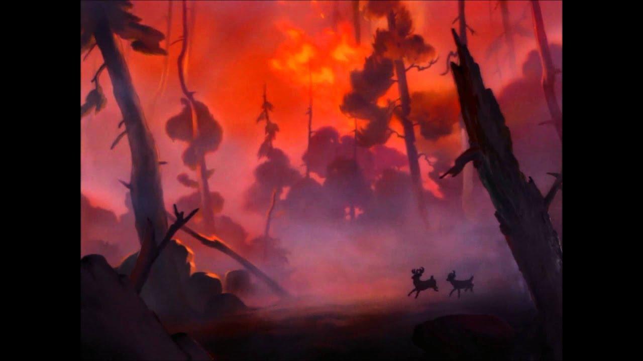 Bambi- The Fire Scene - YouTube