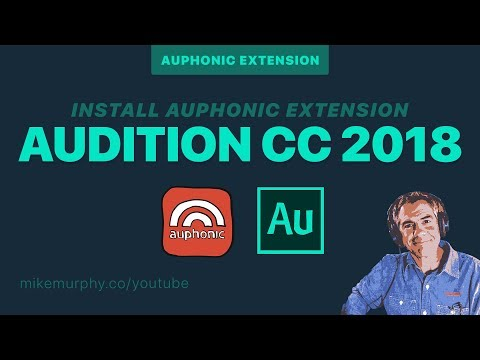 Adobe Audition CC: How to install Auphonic Extension