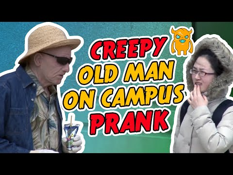 Creepy Old Man on Campus Prank