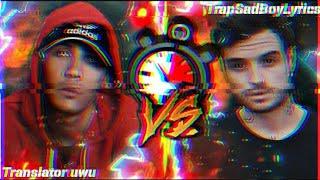 [Rap] Kronno Zomber VS Zarcort Parte 1 | Lyric Video | Translator VS TrapSadBoyLyrics
