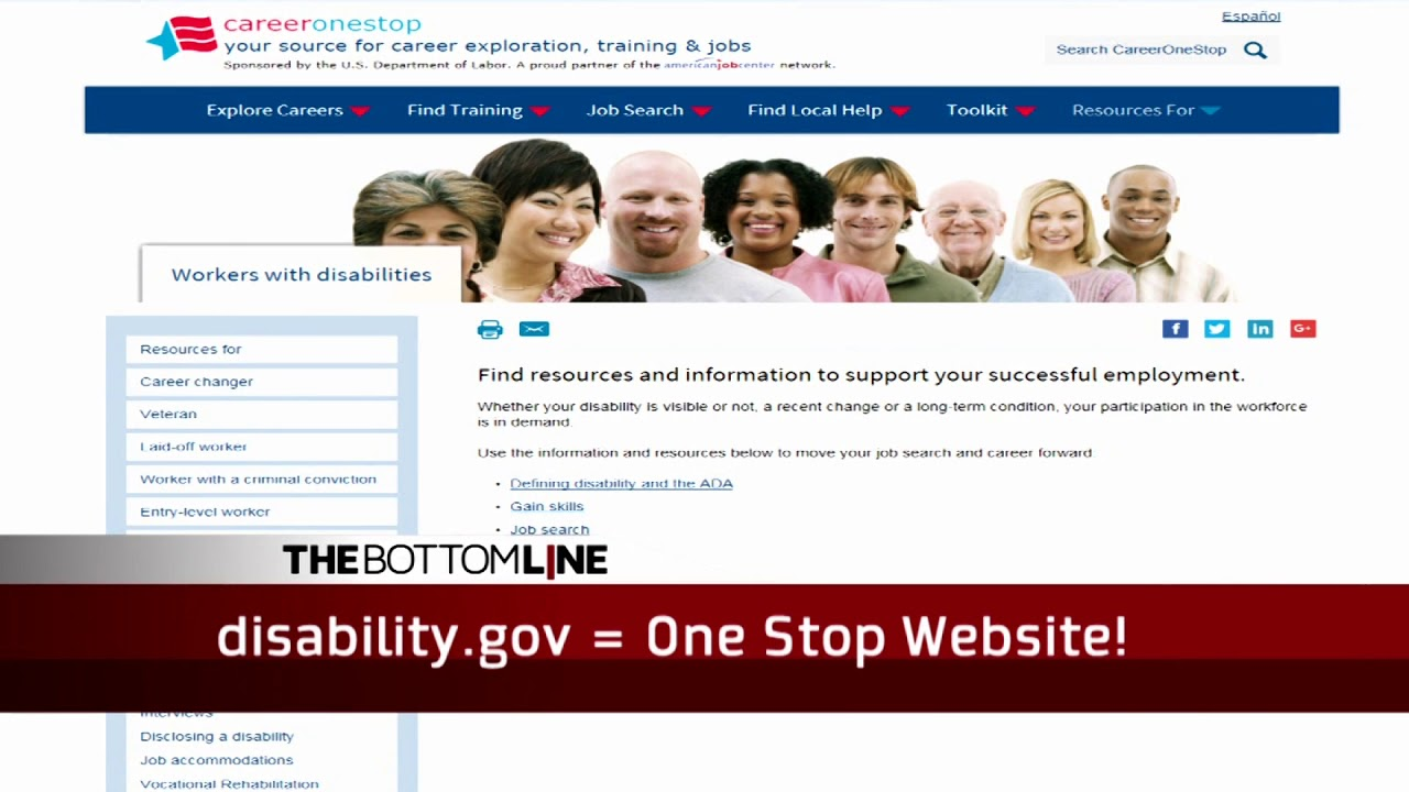 Can Disability Help Your Bottom Line >> Bottom Line Disability Gov Youtube