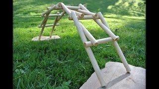 Dowel routing for the da Vinci bridge puzzle