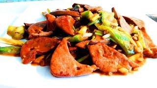 Китайская кухня. Жареная свиная печень