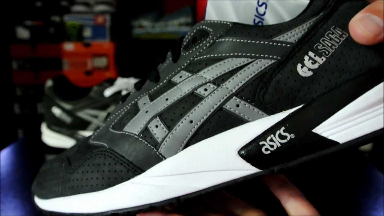 Onitsuka Tiger By Asics Gel Saga Black Burgundy, Shoes, Asics