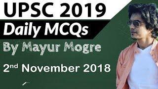 UPSC 2019 Preparation - 2 November 2018 Daily Current Affairs for UPSC / IAS 2019