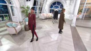 Lisa Rinna Collection Leggings with Ribbed Side Panel on QVC