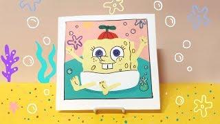 귀여운 스펀지밥 폴라로이드 사진 액자 만들기