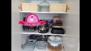 Evim ve Düzenim Part 3 -  Dolap Düzenim - Mutfak Araç Gereçlerim - Pasta Kalıplarım