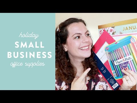 Holiday Office Supply Essentials + Gift Ideas For Small Business Owners