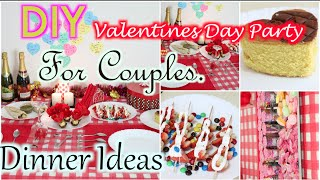 How To Decorate For Valentines Day | Party Food Treat| | Superprincessjo