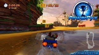 Crash Team Racing Nitro Fueled - Crash Cove Shortcut (Puddle Hopper Trophy Guide)