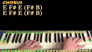 Pillowtalk (ZAYN) Piano Lesson Chord Chart