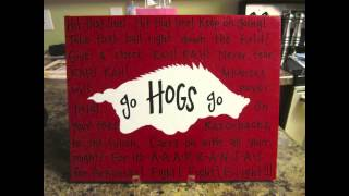 Arkansas Razorback Fight Song With Lyrics!