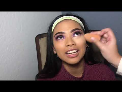 Doing my friends makeup using the Jaclyn Hill palette bling bloss thumbnail