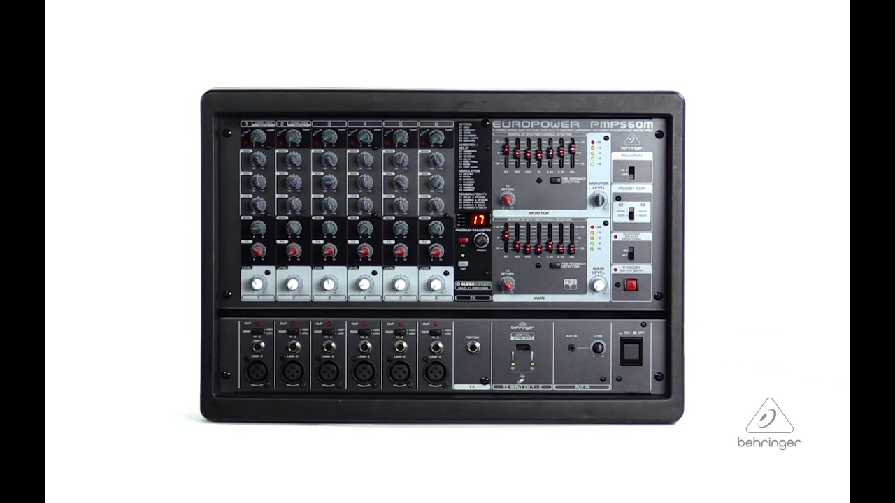 europower pmp560m 500 watt 6 channel powered mixer youtube. Black Bedroom Furniture Sets. Home Design Ideas