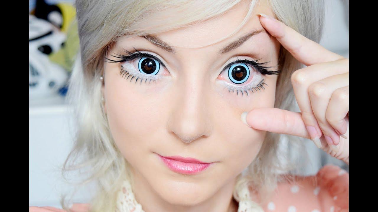 9a0cc1368 As Maiores Lentes de contato! The biggest contact lens! (eng subs ...