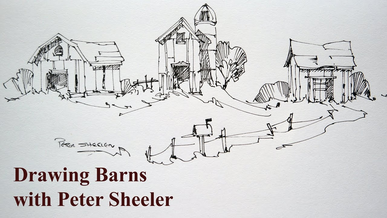 How To Draw Barns 3 Different Barns Quick Easy And Fun At 4x Speed