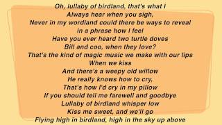 Lullaby of Birdland Instrumental with Lyrics