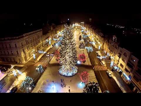 Tg  Mures filmare centru decembrie cu drona