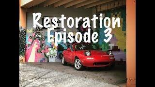 Miata Restoration 3: NB Steering Wheel, Heim joints, Eibach, Shifter Repair