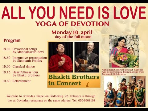 """Hare Krishna Center Stockholm """"All you need is love   festival"""" 10 April 2017"""