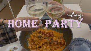 eng)vlog 동생과 자취방에서 홈파티하기|간단하게 …