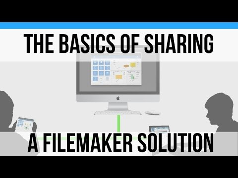 Sharing your Database with Other Devices and Users-FileMaker 16 News-FileMaker 16 Database Sharing