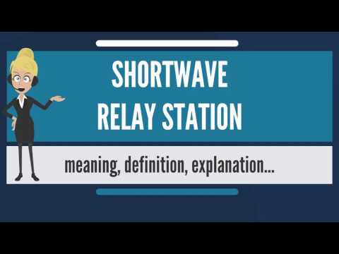 What is SHORTWAVE RELAY STATION? What does SHORTWAVE RELAY STATION mean?