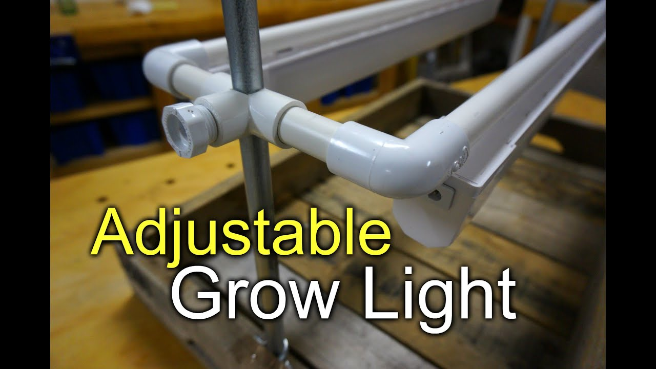 & Grow Light Seed Tray - DIY PVC Adjustable - YouTube