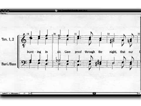 The Star Spangled Banner (National Anthem) TTBB Choir, A Cappella