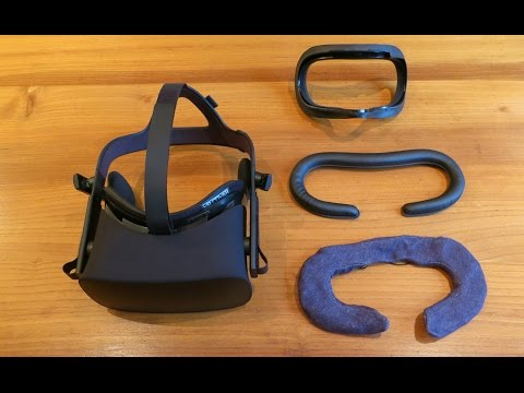 VR Cover Facial Interface & Foam Replacement Set Oculus Rift Unboxing, Installation and Review
