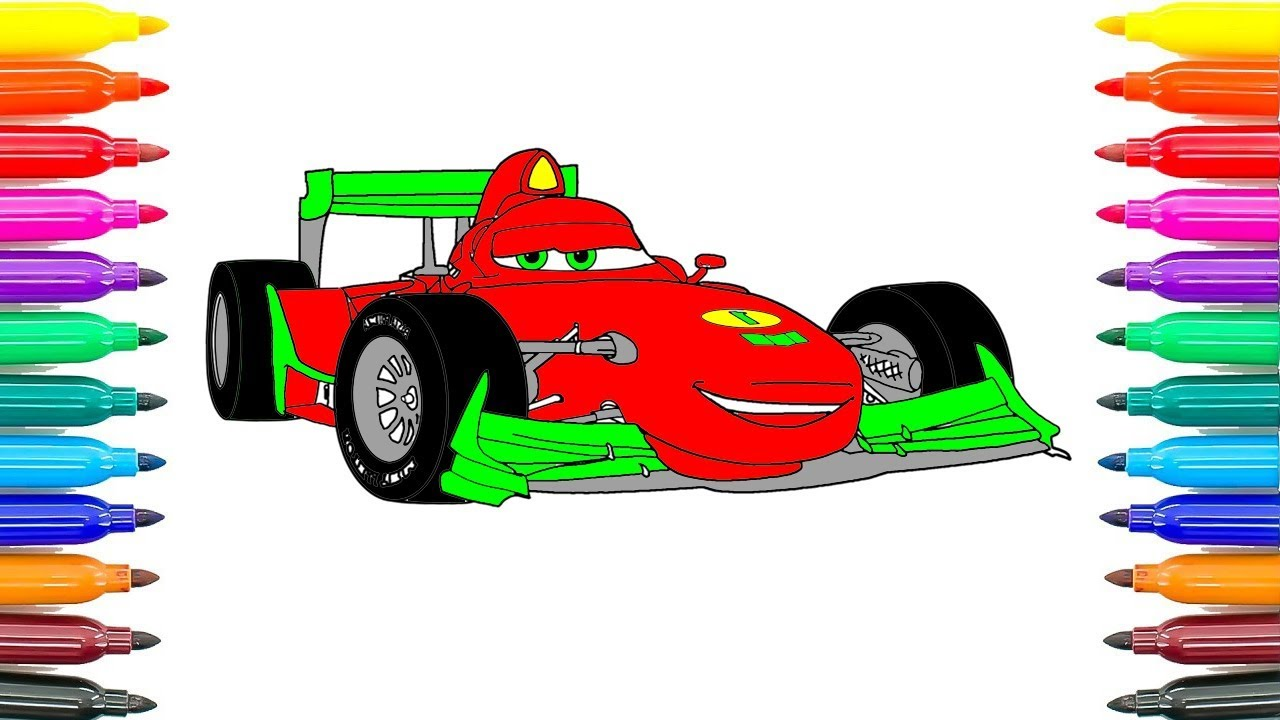 How To Draw Car Francesco Bernoulli Coloring Pages For Kids Learn Colors Funny