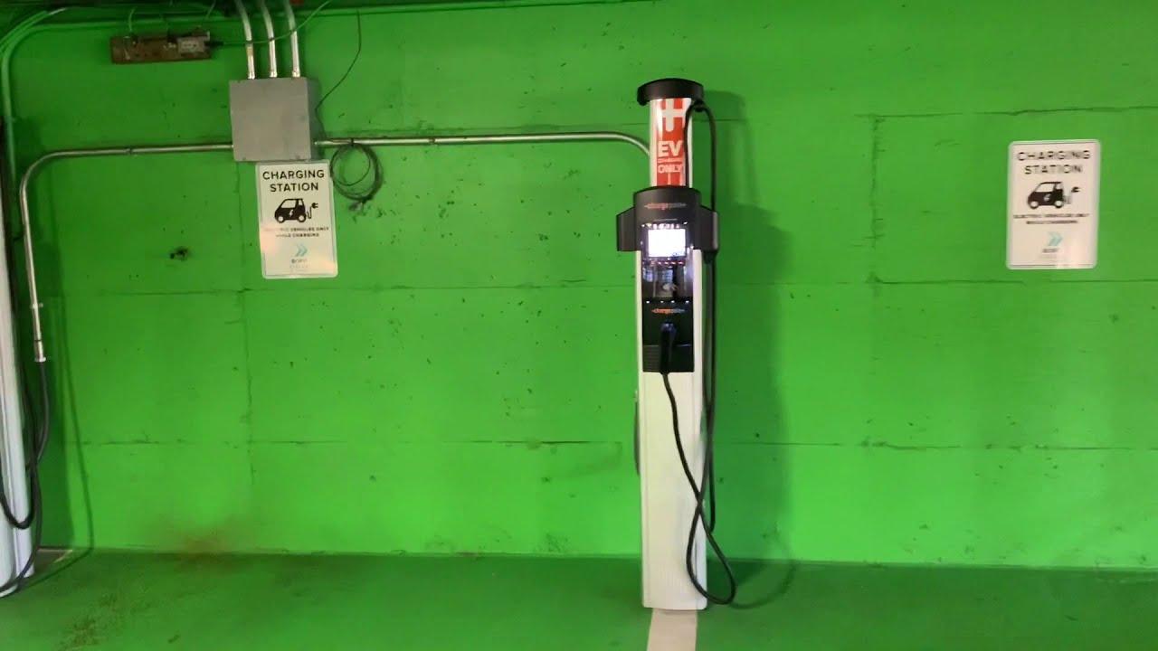 【电动车 充电桩股票】 ChargePoint 充电桩实体 和 APP应用