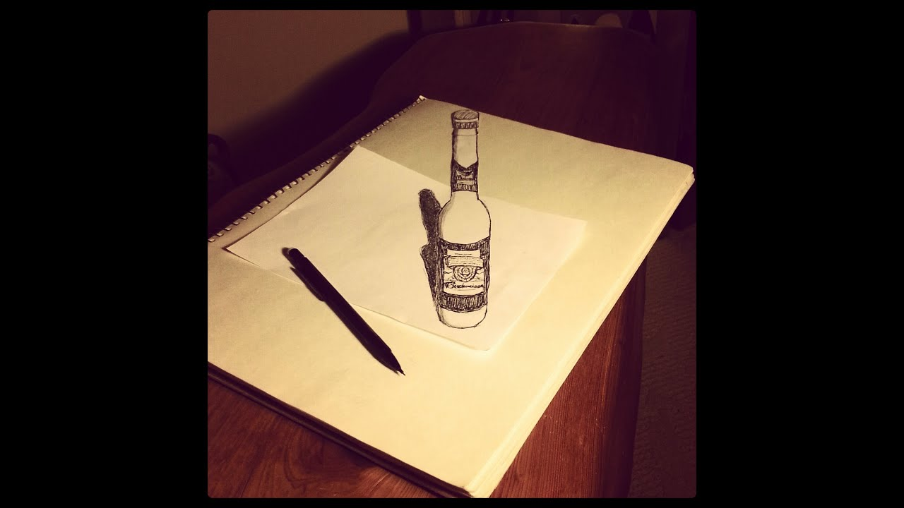 Tutorial: 3D Anamorphic Drawings the Easy Way - YouTube