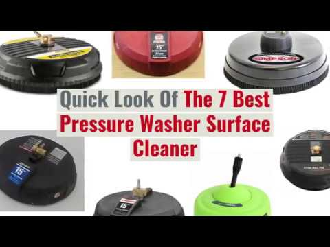 7 Best Pressure Washer Surface Cleaner Attachments Reviews (Updated 2019)