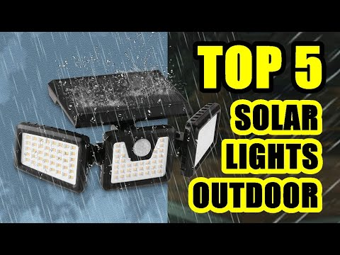 TOP 5: Best Waterproof Solar Light Outdoor with Motion Detector 2021 | LED Solar Lights