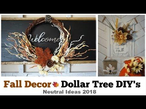 Fall Rustic Dollar Tree DIY Decor | Neutral Decor Ideas 2018 | Momma From Scratch