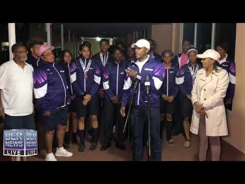 Carifta Athletics Team Return Home, April 23 2019