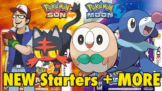 Pokemon Sun and Moon: New Starters + More!
