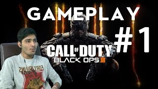 Call of Duty Black Ops 3 Gameplay Part 1 - Intro - Campaign Mission 1 (ps4) / Hindi Commentary