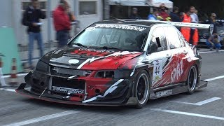 2x Mitsubishi Lancer EVO IX Hillclimb Monsters! - AMAZING Turbo SOUND!
