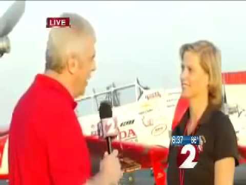 Wing Walker Jane Wicker INTERVIEW Before Plane Crash at Dayton Air Show, Ohio
