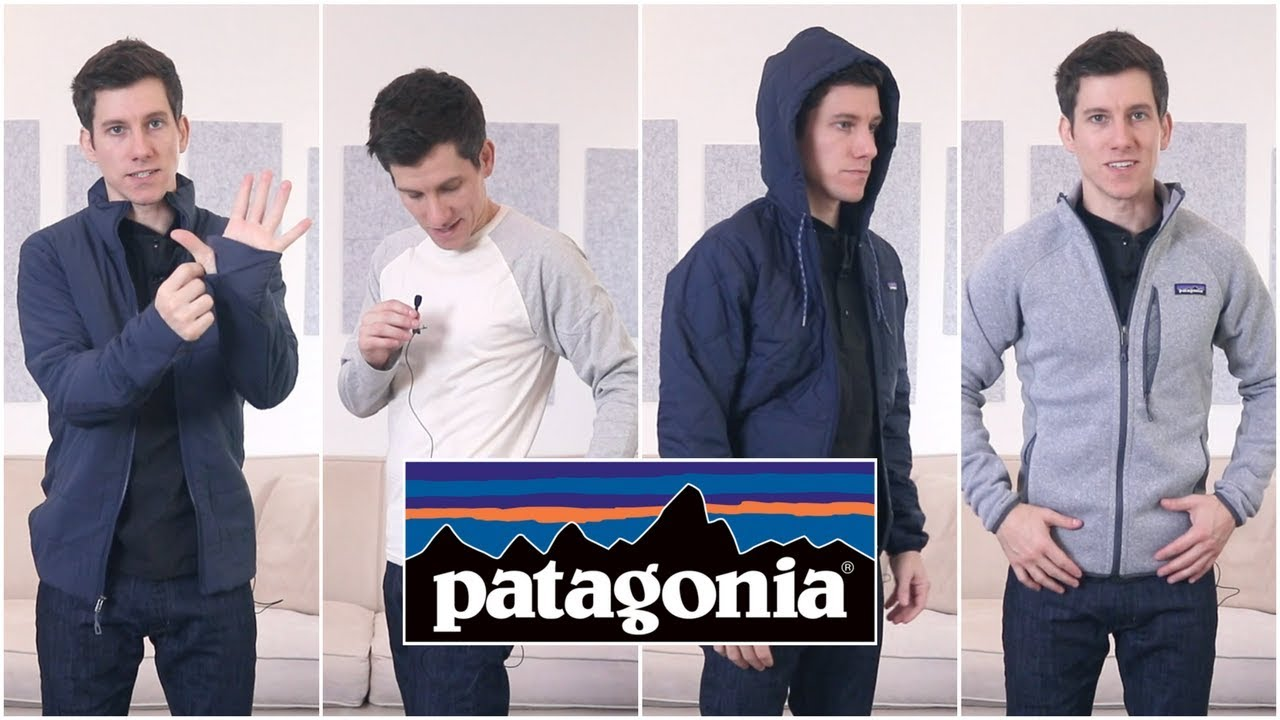 Trying On Patagonia Jackets and Long Sleeve Shirts (XS, XXS, Slim Fit) image