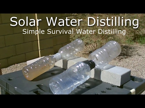 DIY Solar Water Distiller! - Simple Solar Water Distilling -