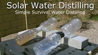 DIY Solar Water Distiller! - Simple Solar Water Distilling - Easy DIY (for survival/SHTF)