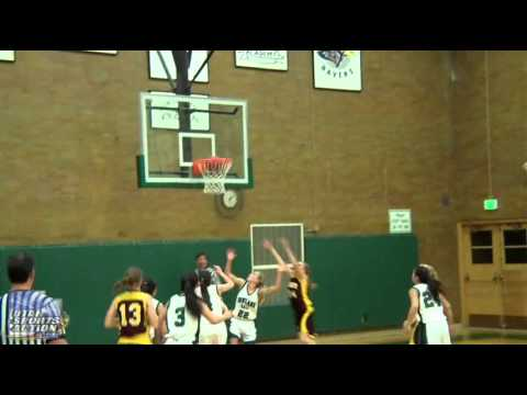 Girls high school basketball: Dugway Mustangs vs. Rowland Hall Winged Lions highlights 12-06-11.