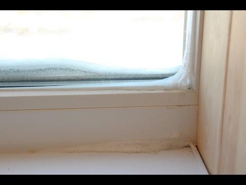 Окна ПВХ замерзли